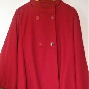 Women's Red Vintage Sherwood 100% Wool Cape